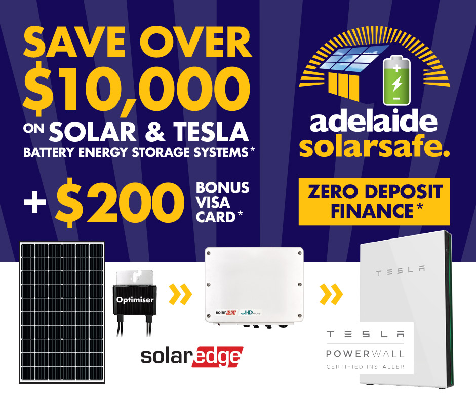 SAVE OVER $10,000 on Solar & TESLA Battery Energy Storage Systems + $200 BONUS