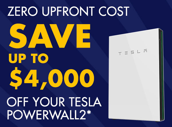 Save up to $4,000 on your Tesla PW2