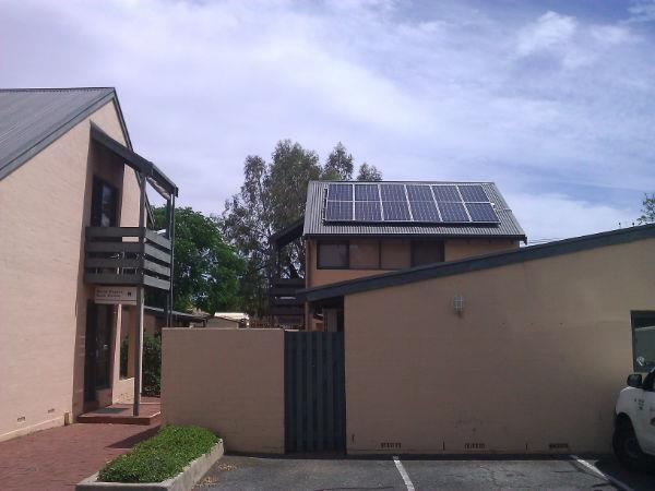 Roof mounted Solar system on residential units
