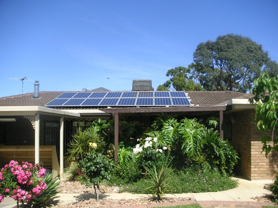 Residential roof mounted Solar system
