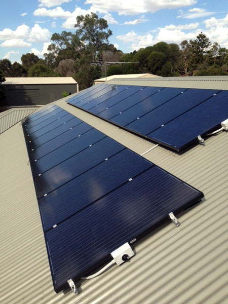 Solar Panels on a Adelaide suburban roof