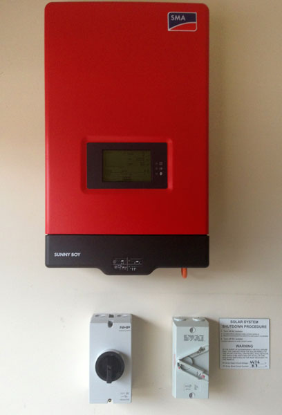 Closeup of SMA Solar Inverter