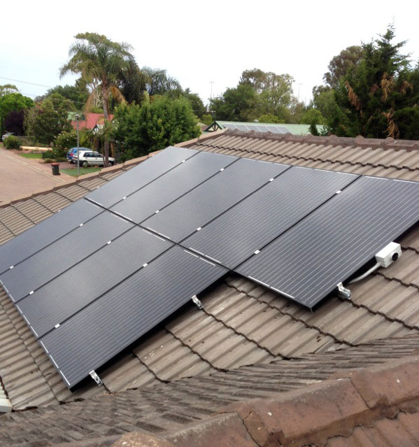 Solar Panels on an Adelaide suburban roof