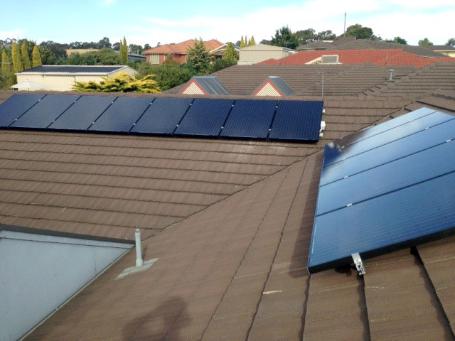 Nine Solar Panels on a Adelaide tiled roof