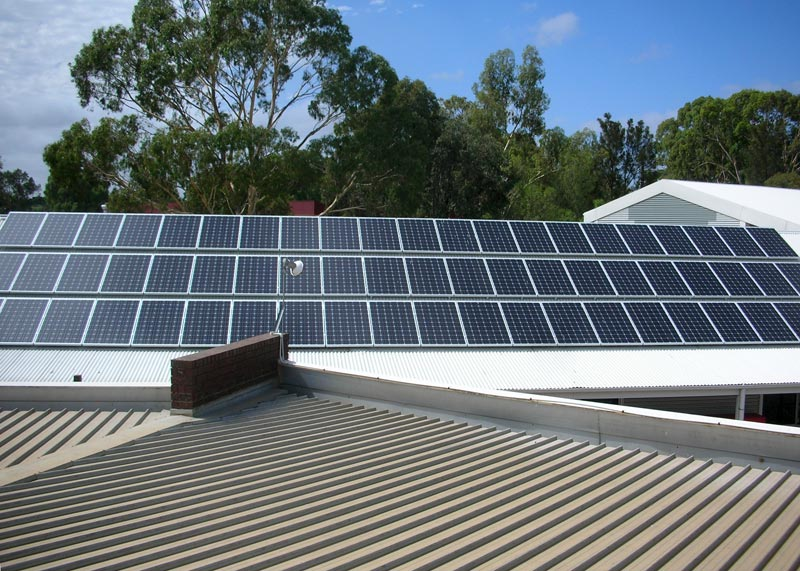 Solar power installation in an Adelaide school
