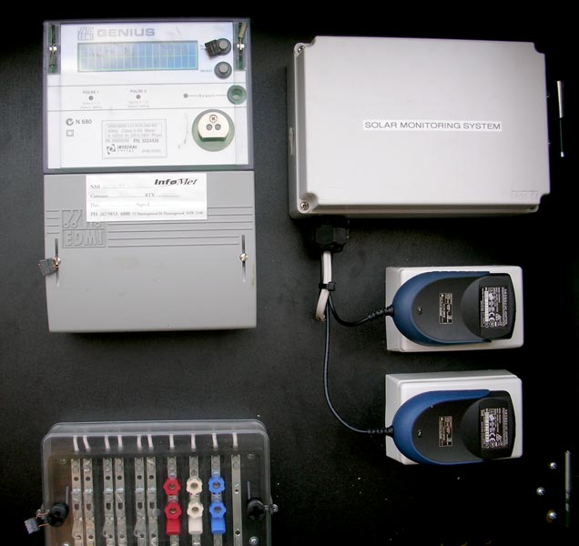 Solar power monitoring system